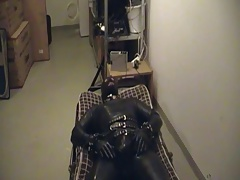 Rubberboy in Bondage for the night