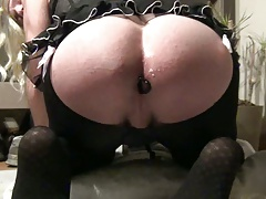 Anal Toy in My Tranny White ass