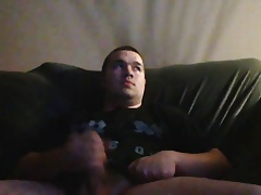 Cute young chub with big fat dick wanking and cum