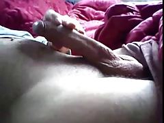 Big Uncut Cock Masterbating