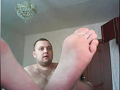 straight guy feet webcam 11 - russian guy-