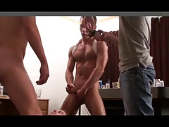 Collage Dude Getting Fuck Hard By 2 Guys