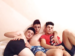 3 Beautiful Romanian Boys With Super Hot Assholes Have Fun