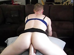 Hot Blonde Boy Plays CD and Fucks good