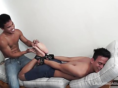 Warren Hog Tied And Gym Tickled