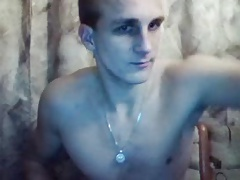 Latvia, Handsome Boy Cums On His Abs, Sexy Tight Ass