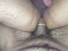 Shy dl Latino rides my big cock