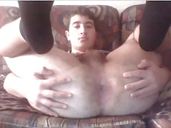 Greek Boy With Nice Cock,Big Fat Ass,So Tight Asshole