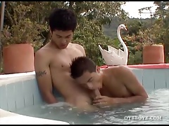 Young Latinos Fucking Bareback At The Pool