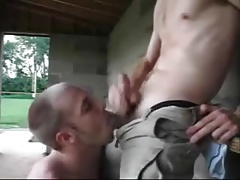 Buddy blowing me at the park and I cum on his tongue