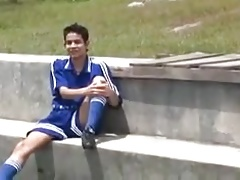 Latino Soccer Boy Fucking Bare Outdoor