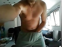 str8 hottie gets naked and licks his cum at the end