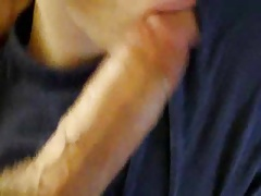 twink sucking off & waiting for the load in mouth